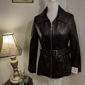 Wilson's 100% Black Leather Jacket NWT Thinsulate
